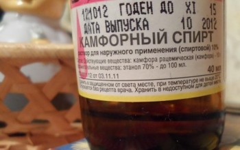 Камфорный спирт для лица